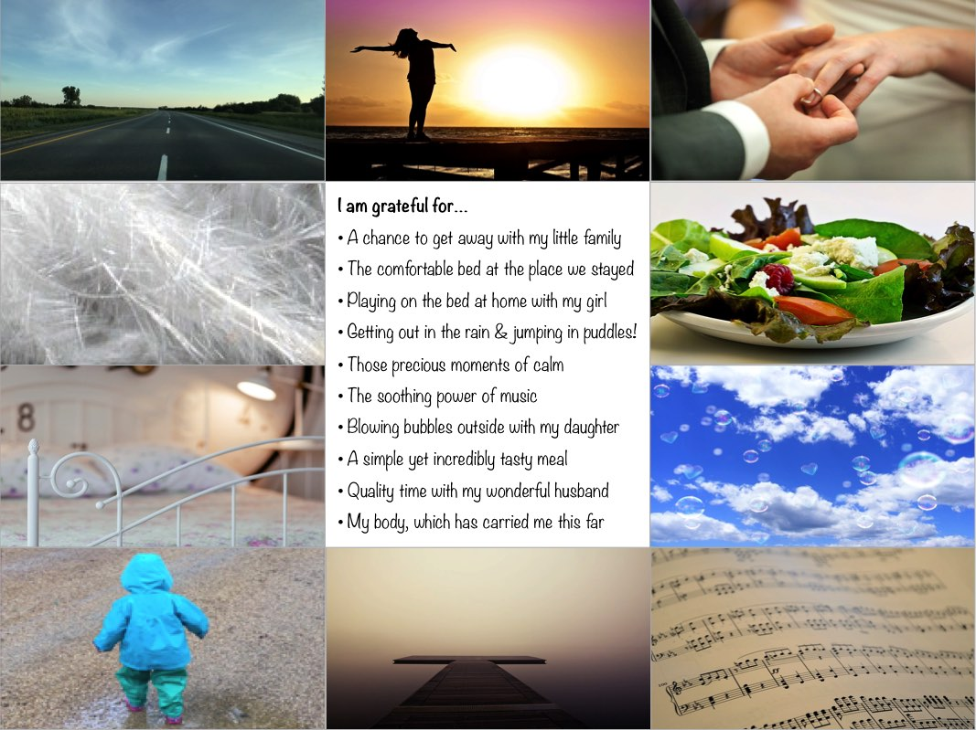 Gratitude list collage