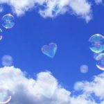 Blue sky and bubbles